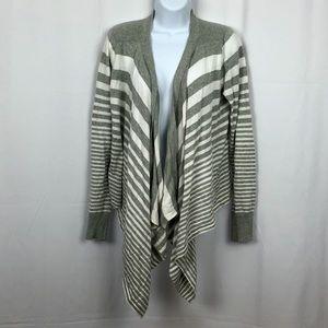 Calvin Klein Cotton Striped open front cardigan  M